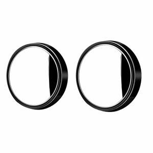 2 pcs Blind Spot Mirror 360°Wide Angle Convex Rear Side View Car Auto BLACK