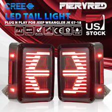 LED Tail Lights w/ Reverse Light Turn Signal Lamps for Jeep Wrangler JK  07-17