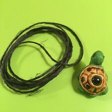 Turtle Necklace – Cute Craft Style with Black Cord - Never worn, still in bag