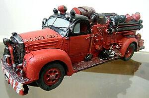 Antique Fire Truck Figurine