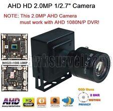 "AHD HD 1080P 2.0MP 1/2.7"" 9-22mm Lens Mini-box Pinhole Spy Camera 4in1 O.S.D"
