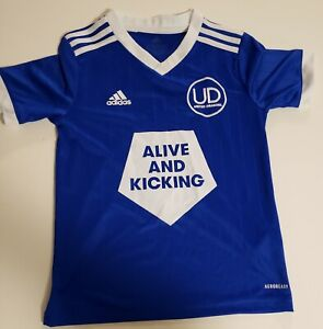 United Dragons addidas Soccer Youth Jersey Rubi #17 Blue & White Size Small