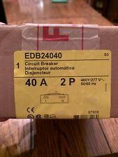 Square D Edb24040 2 Pole 40 Amp 277/480 Volt Edb Circuit Breaker