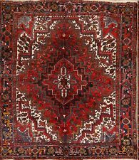 Near Square Oriental Collectable 8x9 Wool Geometric Rug 8'9 x 7'8