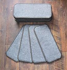 14 Carpet Stair Case Treads Pads # Mid Grey  #  20cm x 45cm