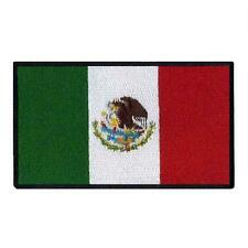 "MEXICO FLAG IRON ON PATCH 3"" Embroidered Applique Mexican Pride National Emblem"