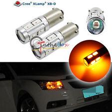 2PCS Amber 3W CREE w/ 8-SMD 120° Bay9s H21W 64136 Car Auto LED Lights Bulbs