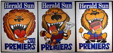2001 & 2002 & 2003 Brisbane Lions Herald Weg Premiers poster Original posters