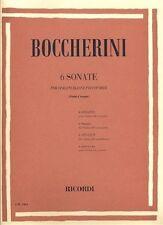 Partition pour violoncelle - Luigi Boccherini - 6 sonatas