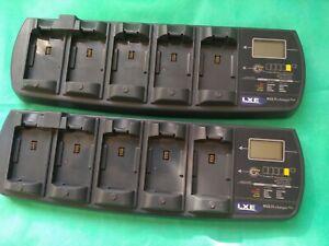 N°1-  LXE MX7 tecton 5-Bay Charger w/Analyzer MX7A385CHGR5  completo