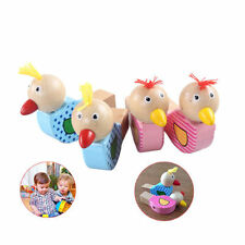 Wooden Bird Shaped Whistle Kids Baby Toys Mini Bird Call Wind Instruments Gifts
