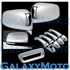 14-16 Dodge Durango Chrome Half Mirror+ 4 Door Handle+Smart Hole+Tailgate Cover