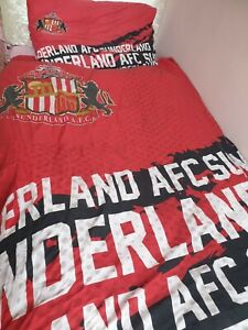 Sunderland AFC Football club single reversible duvet cover and pillowcase