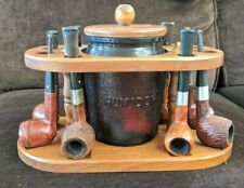 Vintage Estate Pipe Lot With Stand And Humidor