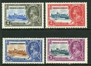 British 1935 KGV Silver Jubilee Trinidad & Tobago Sc # 43-46 MNH Y222