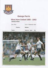 George PARRIS West Ham Utd 1984-1993 mano originale firmato RIVISTA taglio