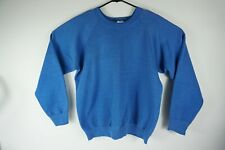 Vintage Fruit of the Loom Blank Blue Sweatshirt X-LARGE Made in the USA