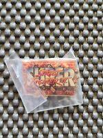 Vintage Capcom Street Fighter 2 pin badge rare retro promo ken Ryu lapel 1990s