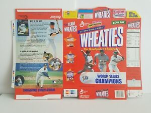 NY Yankees 1998 World Series Champs Wheaties Flat Cereal Box, Derek Jeter