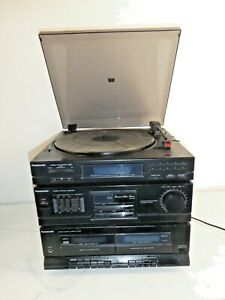 Vintage Panasonic SG-HM22 Compact Audio HiFi System Record 2 deck Tape Player A5