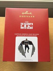 2021 Captain America Sam Wilson The Falcon Marvel Hallmark Keepsake Ornament New