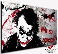 Joker,Leinwand Pop Art Dig. Gemälde Bild Bilder Wandbild Film Kunstdruck Batman