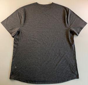 Men's Lululemon Activewear Athliesure 3M Logo Shirt Dark Gray Size XX Large