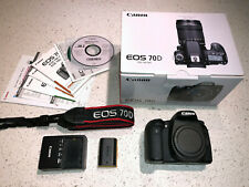 Canon EOS 70D 20.2MP Digital SLR Camera - Black (Body Only) w/ Extra Battery