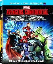 Avengers Confidential . Black Widow & Punisher . Animated . DVD + Blu-ray . NEU