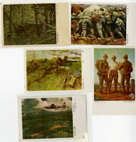 Japan Stamps Gem Group of 5 Mint WWII Picture Postcards
