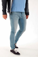 Mens Lee Malone skinny stretch fit jeans 'Fresh Blue' FACTORY SECONDS L190