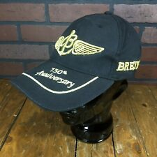 Auth Breitling Since 1884 130th Anniversary Black Cap Hat Golden Wings Fedora
