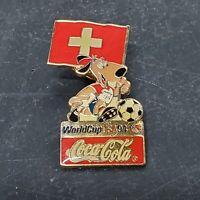 1994 FIFA World Cup Pin Switzerland Flag Soccer Coca-Cola Mascot