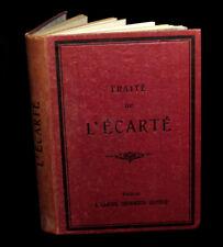 [JEUX CARTES] DORMOY (Emile) - Traité mathématique de l'Ecarté. 1887.
