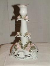 RAR Etagen Kerzenständer Leuchter Rosen Weiss silber Candlelaber Romania