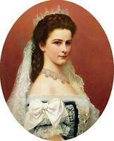 Oil painting Georg Raab - Portrait Noblelady Empress Elisabeth of Austria canvas