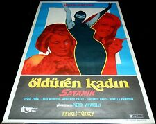 1968 Satanik ORIGINAL TURKISH POSTER Magda Konopka Diabolik Magda Konopka