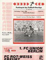 OL 87/88  1. FC Union Berlin - FC Rot-Weiß Erfurt
