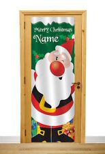PERSONALIZZATO Grande Babbo Natale porta in tessuto POSTER STRISCIONE
