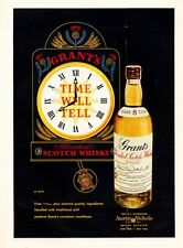 "1957 Grant's Vintage Scotch Whisky Bottle ""Time Will Tell""  PRINT AD"