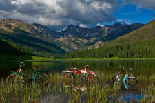Piney Lake by Todd Van Fleet Bike Cycling Bicycle Signed Canvas Giclee 34x24