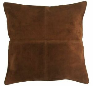 NOORA Soft-Genuine-Suede-Leather-Pillow-Cover-Cushion-Cover