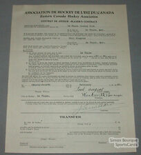1931-32  La Tuque Paul Gingras Signed Hockey Contract