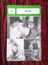 TOM MIX - FILM STAR - FILM TRADE CARD - FRENCH