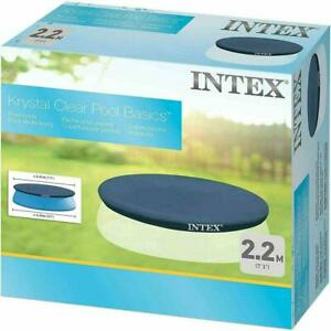 INTEX Round Swimming Paddling Pool Cover Easy Fast Set - 8Ft