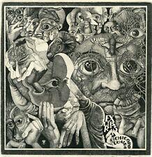 Oleg Yakhnin, Original Surrealistic  Art Print Etching Ex libris,  Ecclesiast.