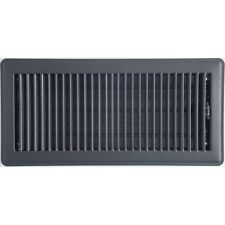 Charcoal Metal Louvered Ducted Heating Floor Vent 150x350mm ABFRCC614B