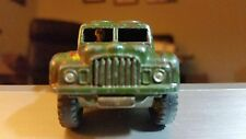 "DINKY ARMY 1 TON CARGO TRUCK #641 Die-cast 1:48 3"" Camouflage Paint VG Condition"