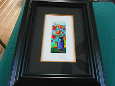 "2010 Peter Max Vase Of Flowers 8 1/2"" X 3 1/2"" Serigraph Signed & Numbered 6/350"