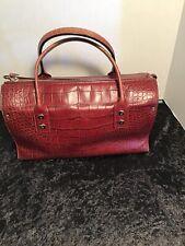 Vintage Kate Spade Croc Embossed Burgundy Leather Hand Bag
